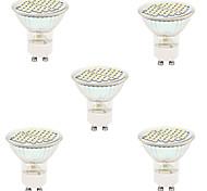 5pcs 48LED SMD2835 GU10/MR16 LED Spotlight Heat-resistant Glass Body LED Bulbs lighting(AC220-240V)