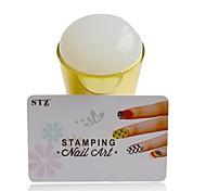 1PCS новый силикон ногтей Стампер наборы джамбо болотистый желе поделки для ногтей Стампер скребковые трафареты маникюрные инструменты