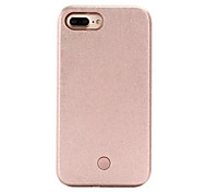 For iPhone 7 Case / iPhone 6 Case / iPhone 5 Case LED Case Back Cover Case Solid Color Hard PC AppleiPhone 7 Plus / iPhone 7 / iPhone 6s