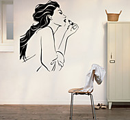 Beauty Wipe Lipstick Figure Home Decal / Girl Bedroom Decoration Wall Stickers
