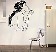 люди Наклейки Простые наклейки Декоративные наклейки на стены,vinyl материал Съемная Украшение дома Наклейка на стену