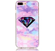 Diamond Pattern HD Painted TPU Material Phone Shell For iPhone 7 7 Plus 6s 6 Plus