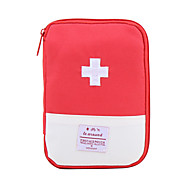 Travel Pill Box/Case Portable for Travel StorageDark Blue Red