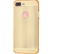 Para Funda iPhone 7 / Funda iPhone 7 Plus Antigolpes Funda Cubierta Trasera Funda Un Color Dura Metal Apple iPhone 7 Plus / iPhone 7