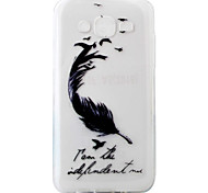 For Samsung Galaxy J5 J5(2016) Case Cover Black Feathers Pattern Painting Super Soft TPU Material