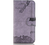 The New Map Pattern Handmade PU Leather Material Phone Holster Phone Case for iPhone 7 7plus