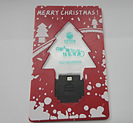 luz de Natal Cartão da árvore