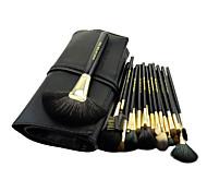 20 Makeup Brushes Set Goat Hair Professional / Portable Wood Face / Eye / Lip Black