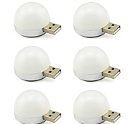 USB Led Light 5V Bulb for Reading Desk Notebook Lamp 6 pcs