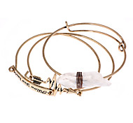 Bracelet Charmes pour Bracelets / Bracelets Rigides / Loom Bracelet Alliage / Gemme Forme RondeCrossover / Mode / Vintage / Bohemia style