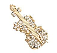 горячие продажи блестящий кристалл скрипка обувь брошь для женщин
