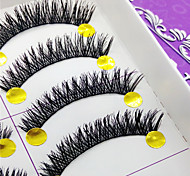 Eyelashes lash Full Strip Lashes Eyes Thick Volumized Handmade Fiber Black Band 0.10mm 10mm