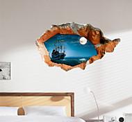 3d наклейки стены ночь вода озера материал ПВХ декоративные стены кожи