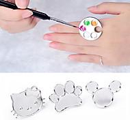 мило палитра искусства ногтя металла палец кольцо смешивания акриловый гель для ногтей живописи рисунок цвет краски блюдо маникюрные