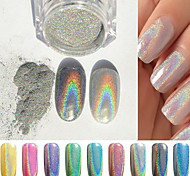 1PCS Manicure Mirror Silver Powder Colorful Jewelry 1g Manicure Boxed With The Wand