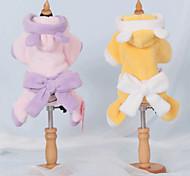Dog Coat Yellow / Purple Dog Clothes Winter Cartoon Cute / Casual/Daily /