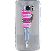 For Samsung Galaxy S5 S6 Little Girl Pattern Tpu Material Highly Transparent Phone Case For Samsung Galaxy S5 S6 S7 S7 Edge