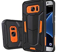 Pour Samsung Galaxy S7 Edge Antichoc Avec Support Coque Coque Arrière Coque Armure Polycarbonate pour Samsung S7 edge S7