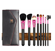 8pcs Makeup Brushes Set Goat Hair Portable Wood Face G.R.C