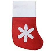 рождественские украшения нетканое рождественские чулки мини Лоток для столовых приборов маленькие носки 12 частей / серия