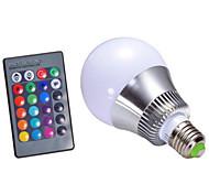 5W E14 / GU10 / B22 / E26/E27 Bombillas LED Inteligentes A60(A19) 1 LED de Alta Potencia 500 lm RGBRegulable / Control Remoto /