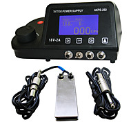 Solong Tattoo Power Supply LCD Double Output Digital Display Footswitch Clip cord Kit for Machine Gun Needle Grip P127