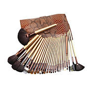 26 Makeup Brushes Set Goat Hair Portable Wood Face G.R.C / Send Package