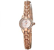 Women's Dress Watch / Fashion Watch Quartz Water Resistant/Water Proof Alloy Band Casual Gold Brand