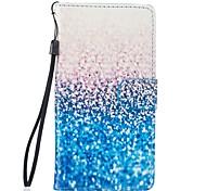 für Samsung-Galaxie s7 Rand Fall blau Sand PU-lederne Mappe s5 s6 s7