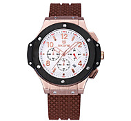 SKONE Mens Watch Sports Silicone Strap Wrist Watch Three Function Dial Cool Watch  Fashion Watch