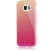Для samsung galaxy s7 s7 край сплошной цвет мигает синий свет pc tpu акриловый тройной материал телефон случай