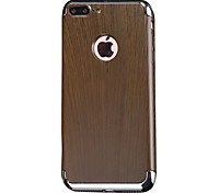 Para Funda iPhone 7 / Funda iPhone 7 Plus Antigolpes / Cromado Funda Cubierta Trasera Funda Fibra de Madera Dura Goma AppleiPhone 7 Plus