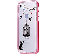 Para Funda iPhone 7 / Funda iPhone 6 / Funda iPhone 5 Transparente / Diseños Funda Cubierta Trasera Funda Animal Suave TPU AppleiPhone 7