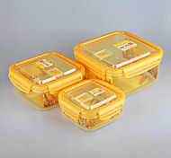 3 in 1 Stackable Food Storage Containers Microwave