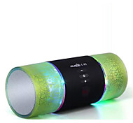 Two Speakers Aluminum Alloy Wireless Bluetooth Speakers High Quality Card Inserted U Disk Crack Bluetooth Stereo Radio