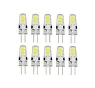 10 PC 6 LED G4 smd5733 Dc12v 200 lm blanco caliente blanco pasador doble lámpara a prueba de agua