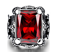 Vintage Ring 316L Stainless Steel cubic zirconia Rings for Men Fashion Luxury Party Jewelry Anel Masculino