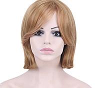 pelucas sintéticas recta corta marrón claro y el pelo de color rubio para las mujeres