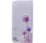 For Sony Xperia X Transparent Pattern Case Back Cover Case Dandelion Soft TPU Sony Xperia X