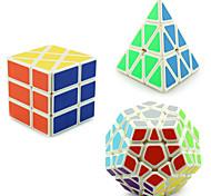 Yongjun® Smooth Speed Cube Pyraminx / Alien / Megaminx Professional Level Stress Relievers / Magic Cube White Smooth Sticker /Anti-pop /