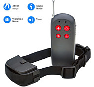 Dog Bark Collar / Dog Training Collars Anti Bark / Remote Control / Electronic/Electric / Shock/Vibration Solid Black Plastic