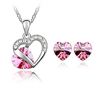 Thousands of colors  Jewelry Necklaces / Earrings Jewelry set Crystal Fashion Daily 1set Women-9-1-1-065-2-019