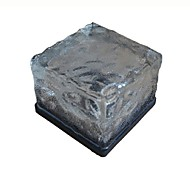 RGB Beautiful Water Square Solar Energy Lamp Solar Ice LED Frost Glass Brick Light Rechargeable