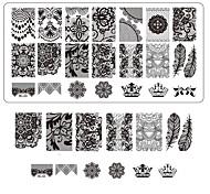 печать кружева ногтей штамповки декора поделки маникюр штамповочный пластины для ногтей Шаблоны салон инструментов bc03