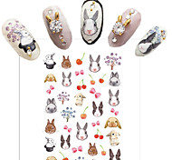 Water Transfer Printing Cartoon Rabbit Nail Stickers