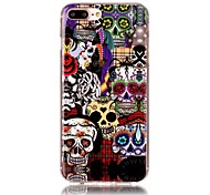 Skeleton Pattern HD Painted TPU Material Phone Shell For iPhone 7 7 Plus 6s 6 Plus