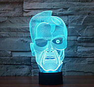 Schwarzenegger Touch Dimming 3D LED Night Light 7Colorful Decoration Atmosphere Lamp Novelty Lighting Christmas Light