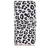 For iPhone 6 Case / iPhone 6 Plus Case / iPhone 5 Case Wallet / Card Holder / with Stand / Flip Case Full Body Case Leopard Print HardPU