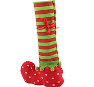 чулок рождества красные мешки крышки бутылки вина Рождественский подарок сумку обеденный стол украшения домашнего партии Xmas декоры