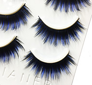 Eyelashes lash Full Strip Lashes Eyes Thick / Colorful Volumized Handmade Fiber Black Band 0.07mm 13mm